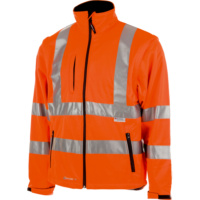 High-visibility protective softshell jacket, class 3