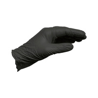 Black, nitrile powder-free disposable glove