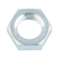 Flat nut with small wrench size, fine thread