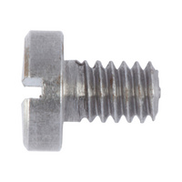 Screw, cylinder head with slot