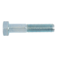 Hexagonal bolt with shank for pressure container construction