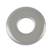 DIN 7349, paslanmaz çelik, A2, düz