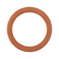 Sealing ring, copper, inch, shape A