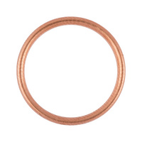 Sealing ring, copper filling seal shape C