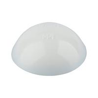 Cache-vis en plastique avec lèvre d'étanchéité pour vis à tête cylindrique bombée