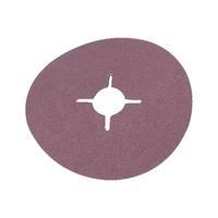 Synthetic corundum vulcanised fibre disc