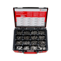 Assortment of hexagonal bolts / hexagon nuts / washers without chamfers