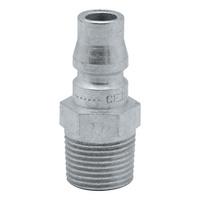 Plug-in nipple 1500 series with male thread