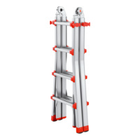 Professional aluminium telescopic ladder 4x4