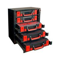 Stapelschrank Set 5 mit ORSY® System-Koffern