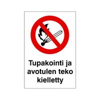 Tupakointi avotulen teko kielletty (merkki)