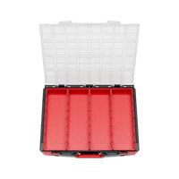 Salkku, 8.4.1, tyhjillä irtolaatikoilla/lokeroilla, läpinäkyvä kansi, System