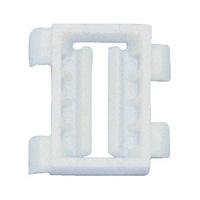 Műanyag díszléc kapocs, S típus