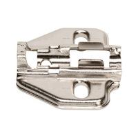 Mounting plate EasyClick slot adjustment