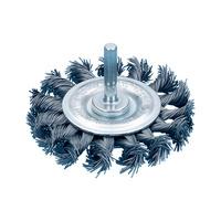 Schaftrundbürste (gezopfter Stahldraht)