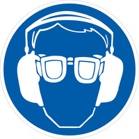 Gebotschild Augen- und Gehörschutz