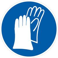 使用手部防护设备(指示标志)