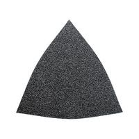 Carta abrasiva a secco triangolare in velcro