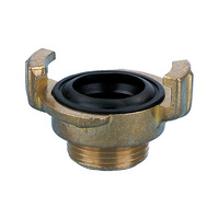 Hose coupling threaded fitting with male thread