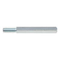 Steel door spindle  For nylon door handles, diameter 23 mm