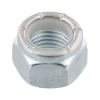 Hexagon nut, high profile with clamping piece (non-metal insert), imperial