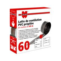 Latte de ventilation pvc prépliée
