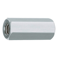 Hexagonal galvanised steel spacer sleeve