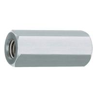 Distanzmuffe Stahl verzinkt 6-kt.