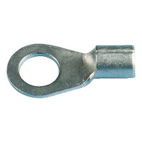 Ring-shaped crimp cable lug
