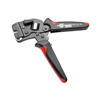 Crimping tool with front loading