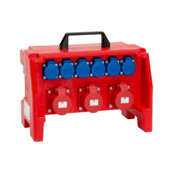 Kunststoff-Steckdosenverteiler
