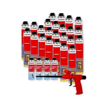 Kit schiuma PU + pulitore + pistola