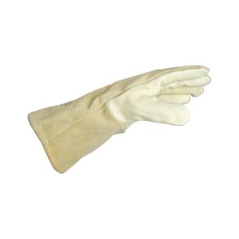 Zváračské rukavice z hrubej kože s podšívkou