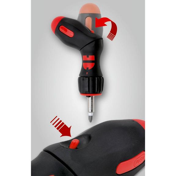 Pistol ratchet screwdriver assortment - SCRDRIV-SET-PISTOL-LED-37PCS
