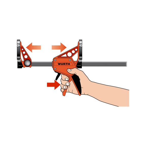 One-handed clamp - 1