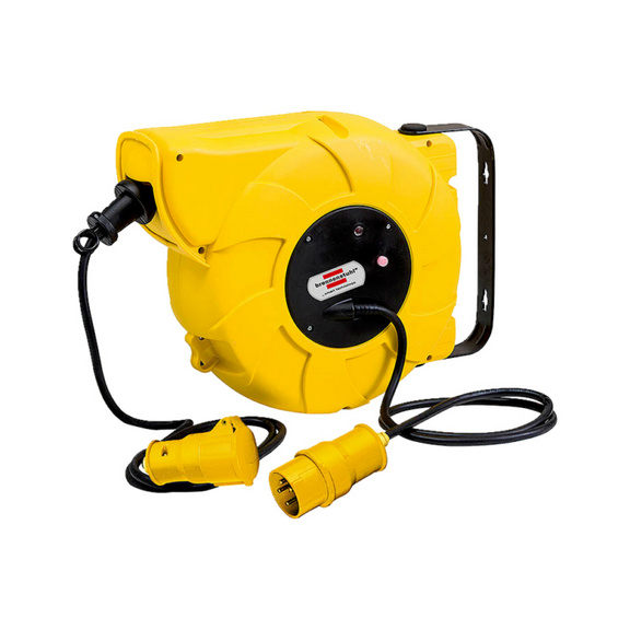 Wall mountable electric cable reel, 110v 110v Automatic cable reel - CBLREEL-AUTO-110V-16-2M
