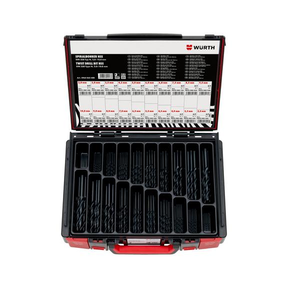 Twist drill bit assortment HSS DIN 338 type RN 130° - TWSTDRL-SYSKO-RN-DIN338-HSS-82PCS