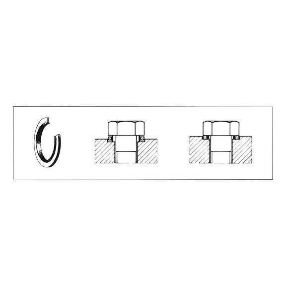 Anilha de vedação autocentradora aço galvan. - 0469008 | WÜRTH