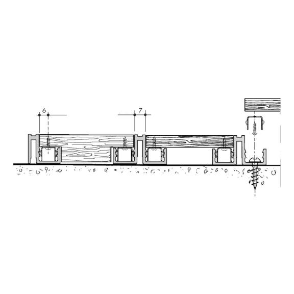 Clip para montagem lateral - CLIP INOX