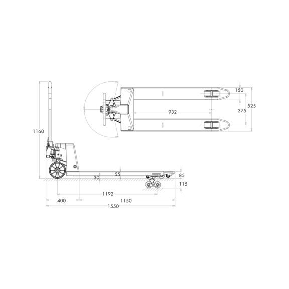 Transpallet manuale - 2