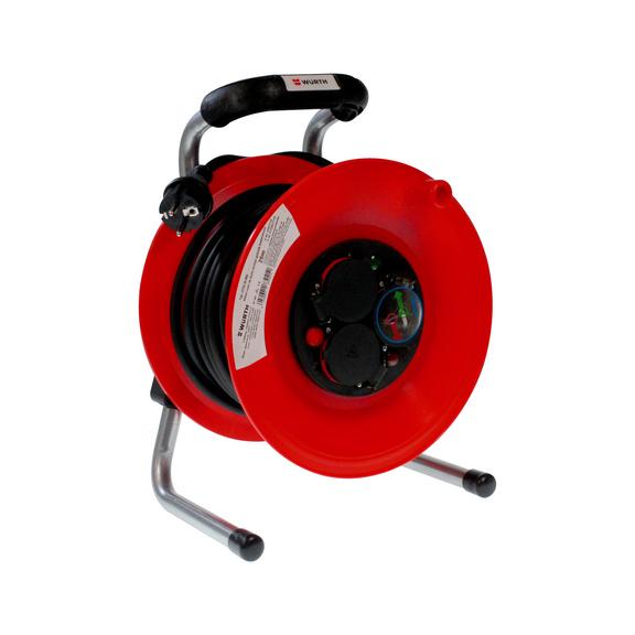 Kabelhaspel kunststof met rubber kabel H05RR-F