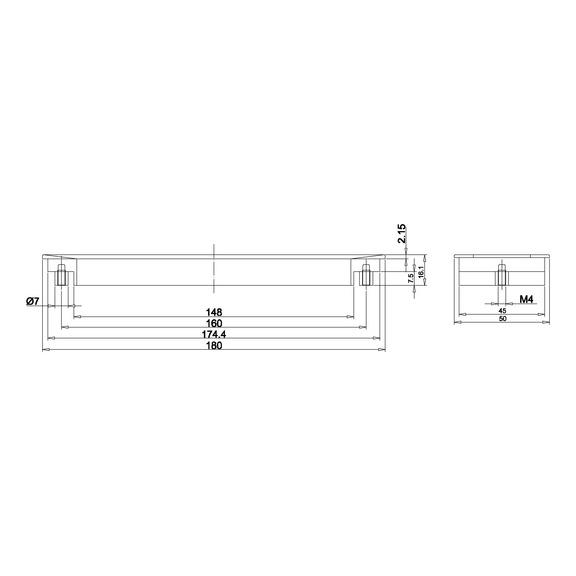 Adaptér pre pásové brúsky na rúrky - 2