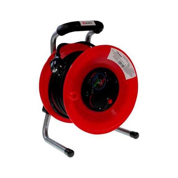 Kunststof kabelhaspel Neopreen H07RN-F met overbelastingsbeveiliging