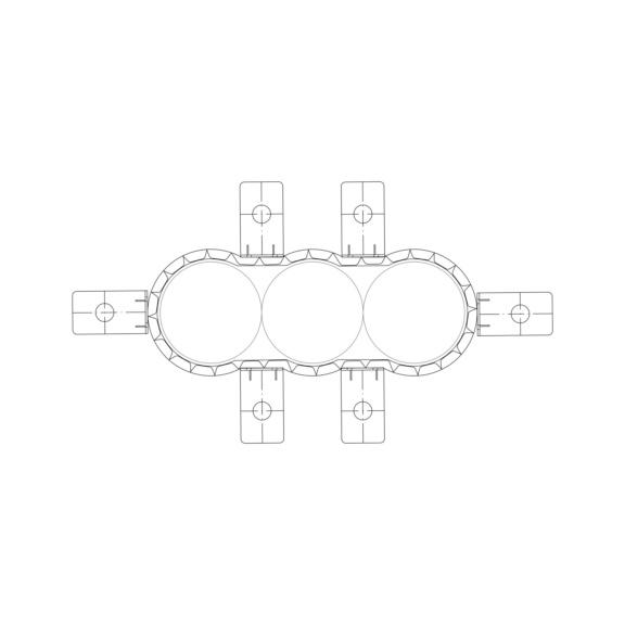 Brandschutzmanschetten-Set EC Endless Collar  - ROMAN-SET-BABAND/METBA-D160MM-20TLG