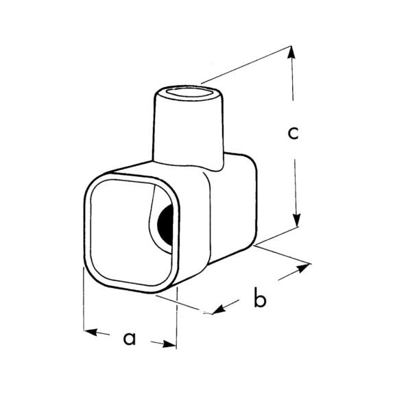 Skrueterminal, isoleret, løs - SAMLEMUFFE ENKEL TRANSPAR (0,75-2,50MM2)