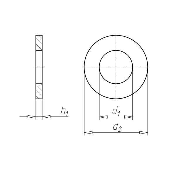 DIN 988 acciaio inox A2 - 2
