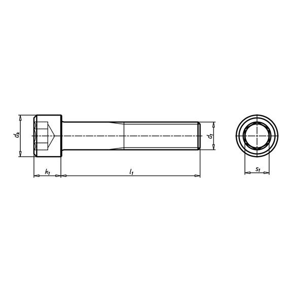 Hengeresfejű csavar belső hatlapú kulcsnyílással - CSAV-HF-ISO4762-8.8-BK4-(A2K)-M5X8