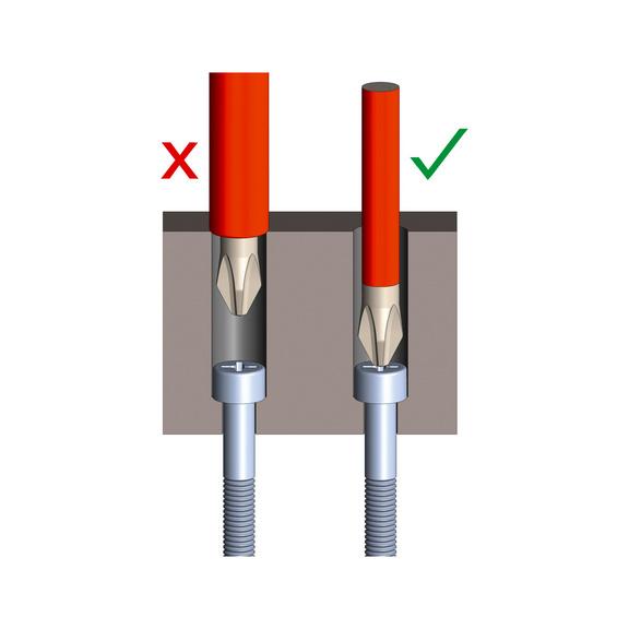 VDE-skruetrækker  PZ forsænket hoved, ultraslank - 1