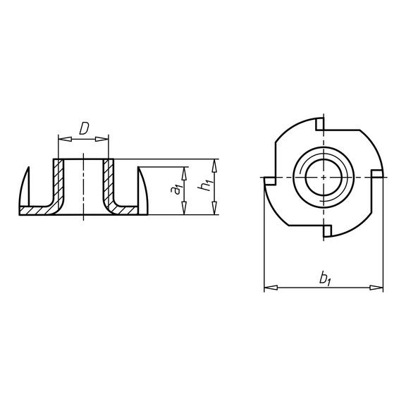 Körmösanya - KÖRMÖS-ANYA-(A2K)-H16X25-M10