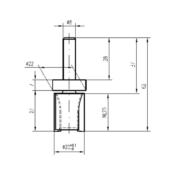 fr ser mit anlaufring oben f r oberfr se w rth. Black Bedroom Furniture Sets. Home Design Ideas